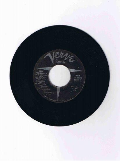 "Ella Fitzgerald 45 rpm single, ""Mack the Knife"" b/w ""Lorelei"" (Verve)"