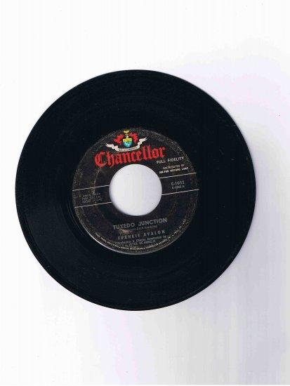 "Frankie Avalon 45 rpm single, ""Tuxedo Junction"" b/w ""Where Are You"" (Chancellor)"