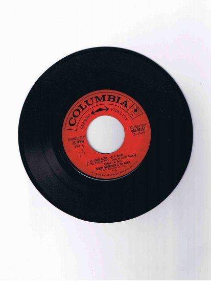 """Benny Goodman 45 rpm EP, """"St. Louis Blues"""" / """"Mr. Five by Five"""" / """"One O'Clock Jump"""""""