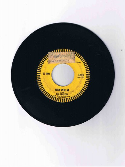 "Roy Hamilton 45 rpm single, ""Abide with Me"" b/w ""You Can Have Her"" (Epic)"