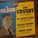 Al Jolson and Bing Crosby 33rpm LP, w/Mills Brothers, Andrews Sisters (1951)