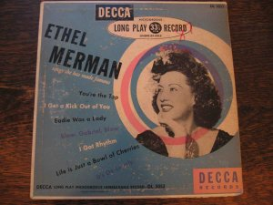 """Ethel Merman: Songs She Has Made Famous (1949) Decca 10"""" LP with Cole Porter tunes"""