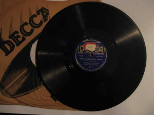 "Jimmy Lunceford 78 rpm record, ""Organ Grinder's Swing"" / ""Sleepy Time Gal"" (Decca)"