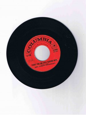 """Jerry Murad's Harmonicats 45 rpm single, """"Cherry Pink and Apple Blossom White"""" / """"Lonely Love"""""""