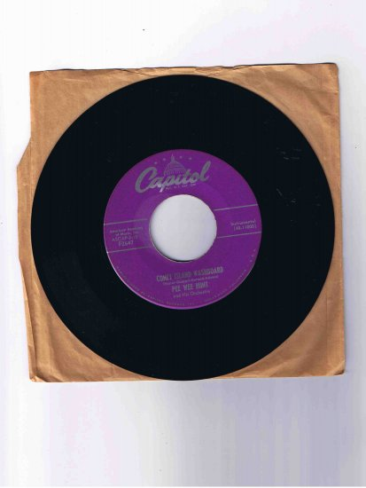 "Pee Wee Hunt 45 rpm single, ""Coney Island Washboard"" b/w ""Mama's Gone, Good Bye"""