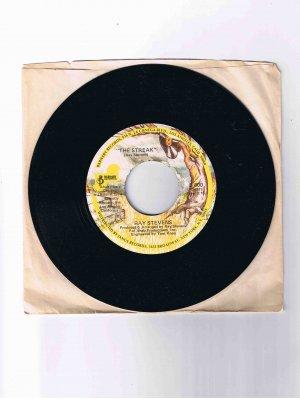 """Ray Stevens 45 rpm single, """"The Streak"""" / """"You've Got the Music Inside"""" (1974) in sleeve"""