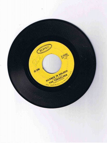"""Tremeloes 45 rpm single, """"Silence Is Golden"""" b/w """"Let Your Hair Hang Down"""" (Epic)"""
