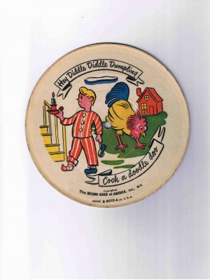 Nursery rhyme 78rpm picture disk ('40s?), Hey Diddle Diddle etc.