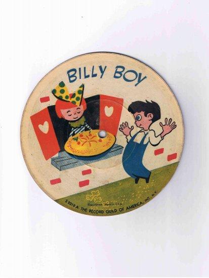 "Nursery rhyme 78rpm picture disk ('40s?), ""Billy Boy"" / ""Three Little Kittens"""