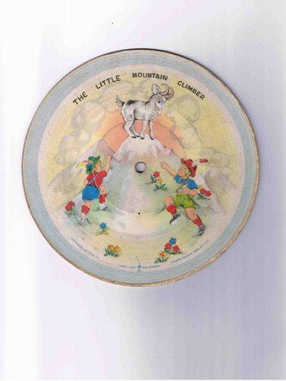 """78rpm cardboard children's record, """"Little Mountain Climber"""" / """"Round & Round the Village"""" (1948)"""