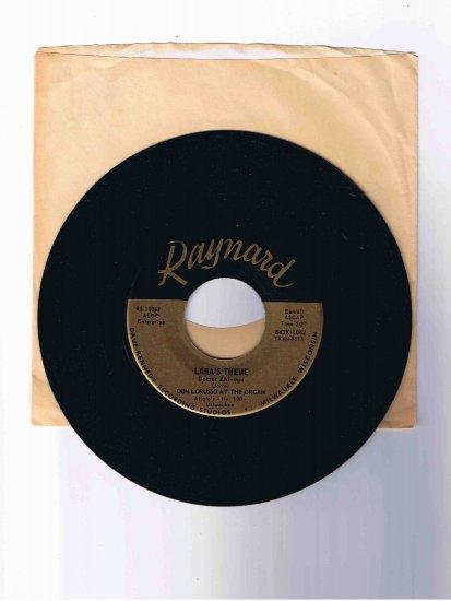"Don Lorusso organ 45 rpm single, ""Lara's Theme"" (from Dr. Zhivago) / ""Spanish Flea"""