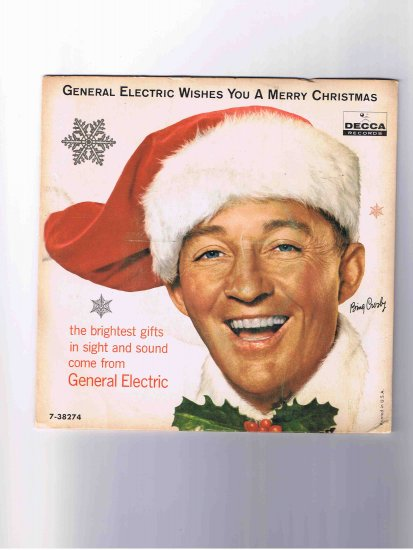 """Bing Crosby/Andrews Sisters 33rpm 7"""" Christmas EP in picture sleeve"""
