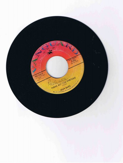"Joan Baez 45 single, ""There but for Fortune"" / ""Daddy You Been on My Mind"" (Vanguard)"
