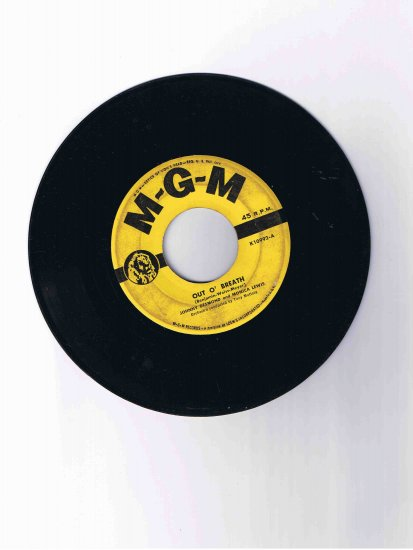 """Johnny Desmond/Monica Lewis 45rpm single, """"Out o' Breath"""" / """"I'm Glad I Gave It Up for You"""""""
