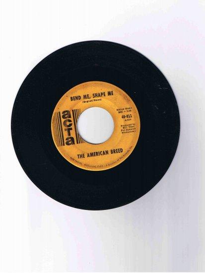 "American Breed 45rpm single, ""Bend Me, Shape Me""/""Mindrocker"" (1968)"