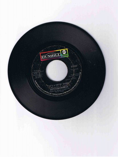 """Gayle McCormick 45rpm single, """"It's a Cryin' Shame"""" / """"If Only You Believe"""""""