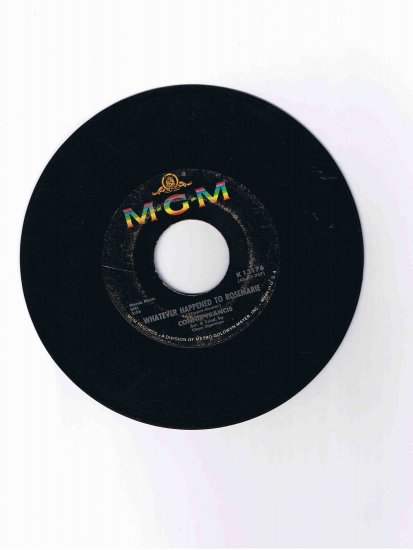"""Connie Francis 45rpm single, """"Whatever Happened to Rosemarie"""" / """"Your Other Love"""" (M-G-M)"""