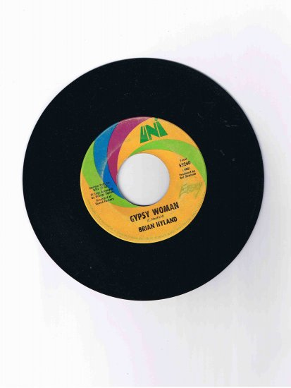 "Brian Hyland 45rpm single, ""Gypsy Woman"" / ""You and Me (#2)"""