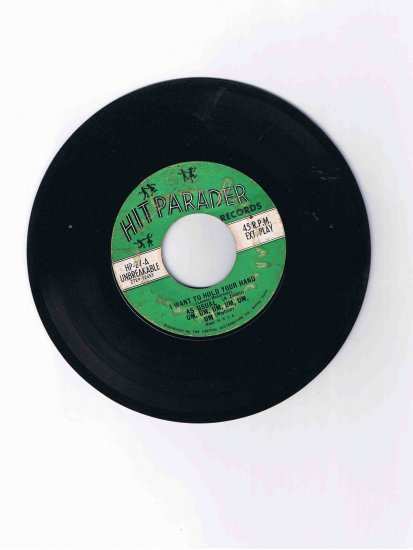 """Hitparader Records 45rpm EP with Beatles, """"Surfin' Bird,"""" etc. hits"""
