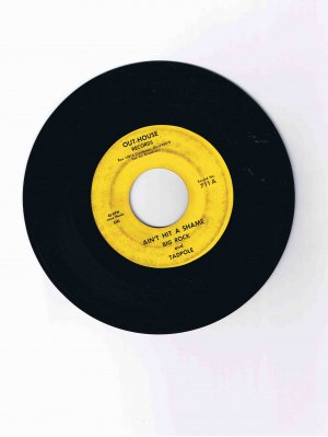 """Big Rock and Tadpole 45rpm single, """"Ain't Hit a Shame"""" / """"Beep-Beep Song"""" (adult novelty record)"""