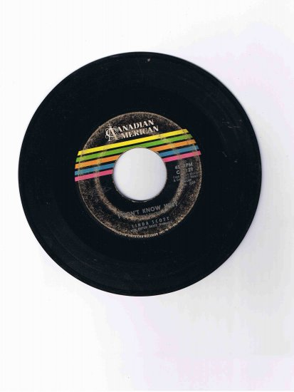 """Linda Scott 45rpm single, """"I Don't Know Why"""" / """"It's All Because"""""""
