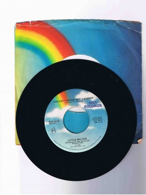 """Little Milton, 45rpm single, """"Age Ain't Nothin' but a Number"""" (1980) in sleeve"""