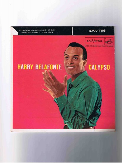 """Harry Belafonte 45rpm EP, """"Calypso,"""" picture sleeve only"""