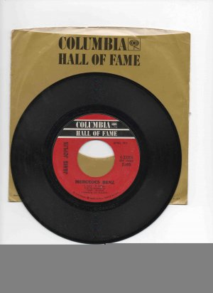Janis Joplin 45rpm single, �Cry Baby� b/w �Mercedes Benz� in sleeve, almost NM