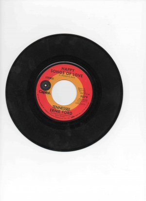 Tennessee Ernie Ford 45, �Happy Songs of Love�/�Don�t Let the Good Life Pass You By�