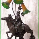 Beautiful Horse Lamp with Lady Rider