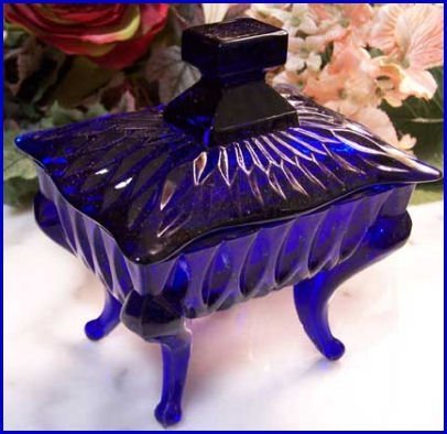 Blue Piano Glass  Dish