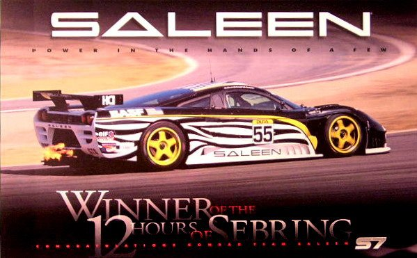 "SALEEN S7 at Sebring Poster 11"" X 17"" S7r Racing Print"
