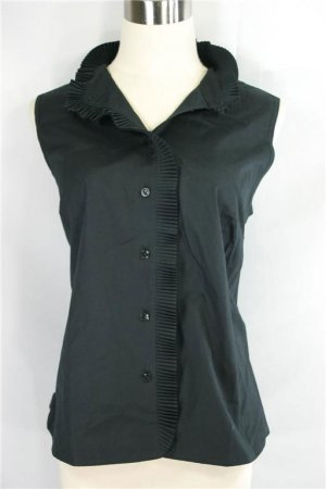 Talbots' Brand New Classic Black Cotton Shirt - $68 Retail Tag