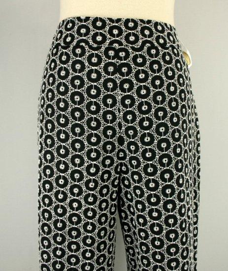 NWT NEW TALBOTS $118 BLACK EYELET SILK CROPPED PANTS 10