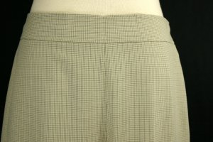 NWT NEW TALBOTS $98 TAUPE CHECK CROPPED CAPRIS PANTS 14