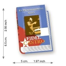 The Living Thought Of Fidel Castro - Luxury - Mini Book