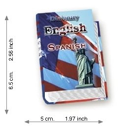 Dictionary English - Spanish - Lujo - Mini Book