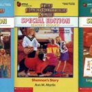 3 BABYSITTERS CLUB Special Editions  LOGAN & More!