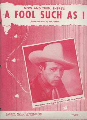 A FOOL SUCH AS I Hank Snow Sheet Music 1952