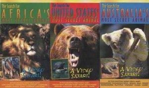 3 Video SAFARI Search for MOST SECRET ANIMALS VHS