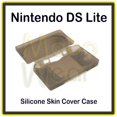 Smoke/Frosted Gray Protective Silicone Skin Cover Case for the Nintendo DS Lite/NDS Lite
