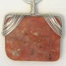 SALE Handcrafted Wirewrapped Natural Pink Lepidolite - Pendant Only