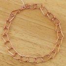 Handcrafted Fold Copper Chain Link Anklet Ankle Bracelet