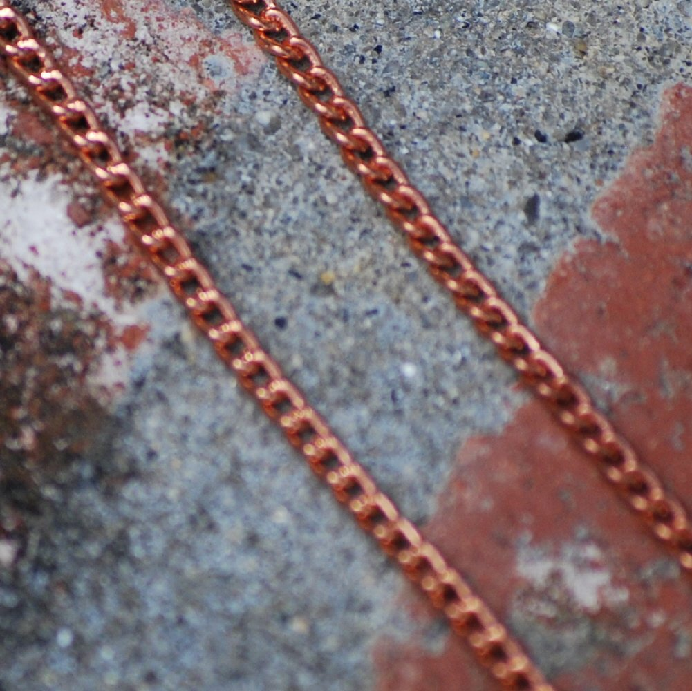 """20"""" Copper Flat Curb Chain Necklace 20 inches"""