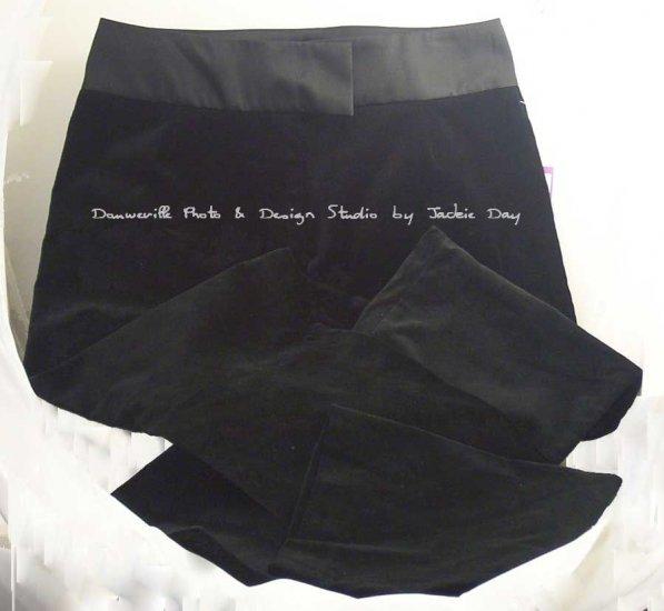 SUZANNE SOMERS SATIN WAIST VELVET PANT - Size 12