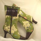 LIFESTYLE Sharif World Traveler Mid-Calf Map Boot GREEN size 7M