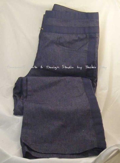 Suzanne Somers Womens J-Pocket Stretch Denim Suit Pant Indigo Size 10