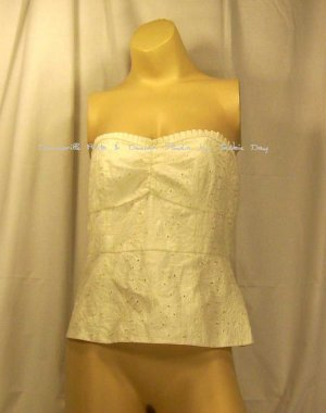 Susan Lucci Cotton Eyelet Bustier Size 6 White Item 208-976