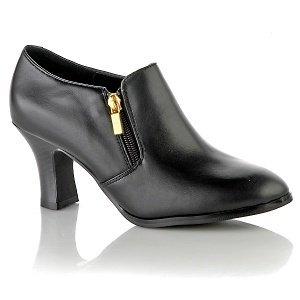AJ. Valenci BLACK Leather Comfort Shootie Size 7W # 251-993