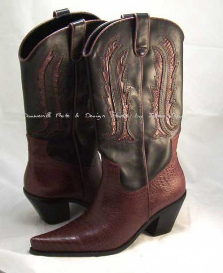 HOT in HOLLYWOOD URBAN COWGIRL WESTERN Laser Cut BOOT Size 8
